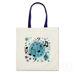 Music Notes Bag P W Cq Image