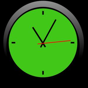 Clock Green A | Free Images at Clker.com - vector clip art ...