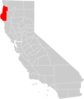California County Map Humboldt County Highlighted Clip Art