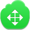 Free Green Cloud Cursor Drag Arrow Image