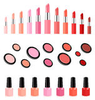 Collection Lipsticks Powders Nail Varnish Image