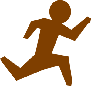 Running Man - Brown Clip Art