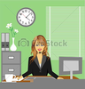 Free Office Desk Clipart Image