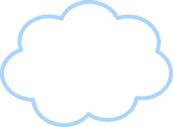 Blue Cloud Md | Free Images at Clker.com - vector clip art ...