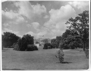 View Of The South Front Of The White House Image