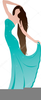 Evening Gown Clipart Image