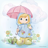 April Showers Brings May Flowers Clipart Image