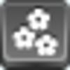 Free Grey Button Icons Flowers Image