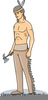 Animated American Indian Clipart Image