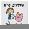 Big Sister Little Brother Clipart Image