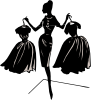 Fashion Designer Silhouette Clip Art