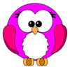 Pink Robin Cartoon Image