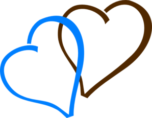 Brown And Blue Hearts Clip Art