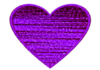 Heart D Textured Purple Image