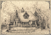 Storybook Cottage Drawing Image