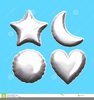 Free Silver Heart Clipart Image