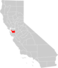 California County Map Alameda County Highlighted Clip Art