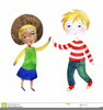 Girl And Boy Holding Hands Clipart Image