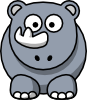 Studiofibonacci Cartoon Rhino Clip Art