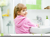Child Washing Hands Clipart Image