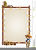 Cowboy Picture Frame Clipart Image