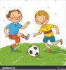 Clipart Pictures Children Playing Soccer Image