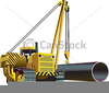 Side Boom Vector Image