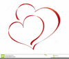 One Heart Wedding Clipart Image