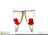 Two Wine Glasses Clipart Image