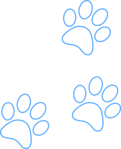 Blue Paw Outline Clip Art at Clker com - vector clip art
