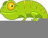 Cute Chameleon Clipart Image