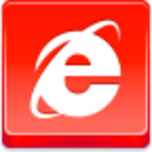 Free Red Button Icons Internet Explorer Image