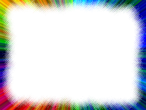 Frame Multi Color Rainbow Lines Image