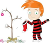 Sad Christmas Tree Clipart Image