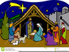 Free Clipart Nativity Scene Black And White Image
