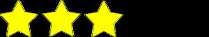 3 Star Rating Clip Art