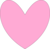 Heart Outline- Pink Clip Art