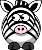 Zebra Looking Left Clip Art