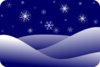 Winter Scenery Clip Art
