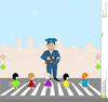 Pedestrian Crossing Clipart Image