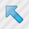 Icon Arrow Left Up Blue 1 Image