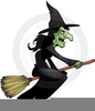 Clipart Witches On Brooms Image