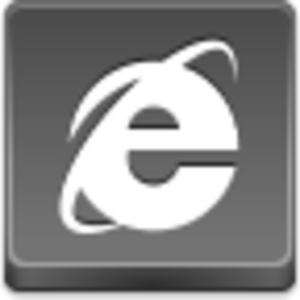 Free Grey Button Icons Internet Explorer Image