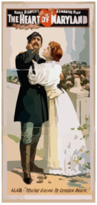 David Belasco S Romantic Play, The Heart Of Maryland Clip Art