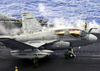 An Ea-6b Prowler Unfolds Its Wings On The Flight Deck Of Uss Constellation (cv 64) In Preparation For Launching From One Of Four Steam Power Catapults. Image