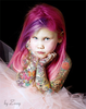 Cute Girl Tattoed By Zozzy Evil Image