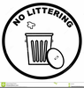 No Littering Clipart Image