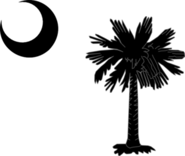 Sc Flag Tattoos: South Carolina State Flag Palmetto And Crescent Moon In