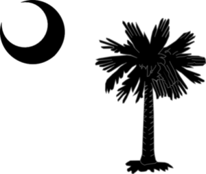 South Carolina State Flag Palmetto And Crescent Moon In Black Md Image