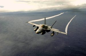 An F/a-18 Hornet Assigned To The  Mighty Shrikes  Of Strike Fighter Squadron Ninety Four (vfa-94). Image